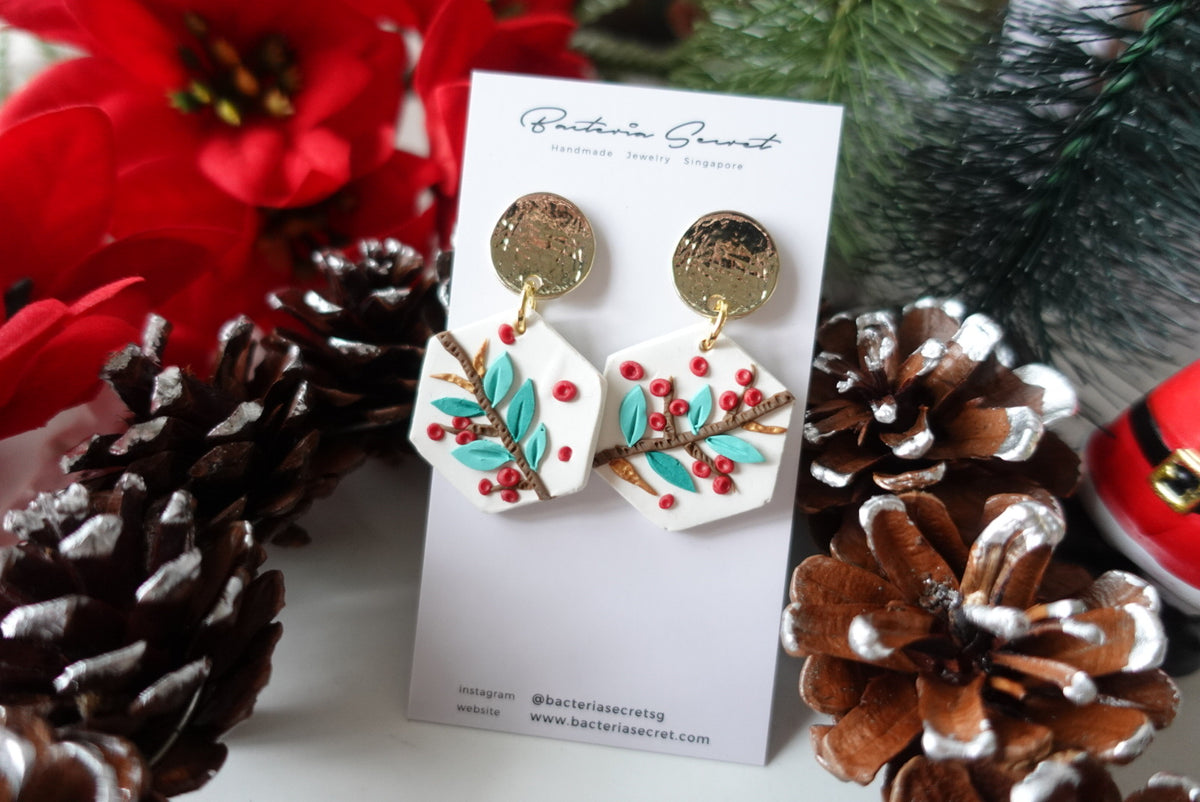 Merry Little Christmas Clay Earrings 2