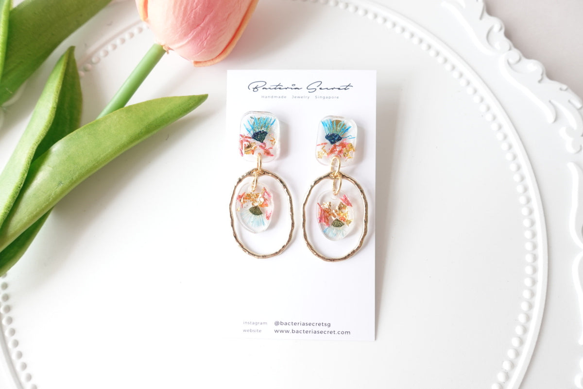 🌸Spring Collection🌸 Arine Blue Purple Flower Earrings