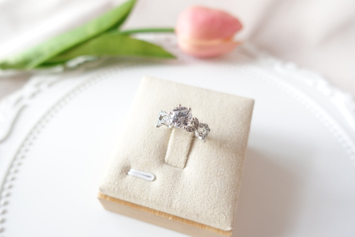Floral Christine Silver Ring