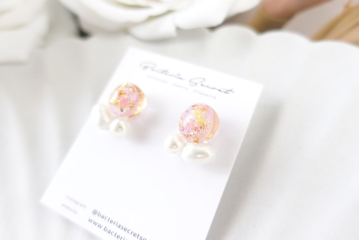 🌼Summer Collection🌼Ayane Pink Mixed Flower Pearl Studs