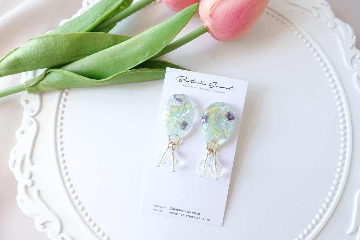 🌼Summer Collection🌼Atalie Blue Flower Dangling Earrings