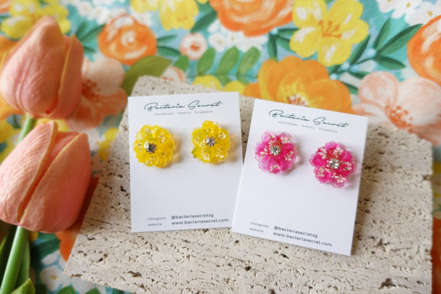 Carlina Spring 3D Floral Earrings