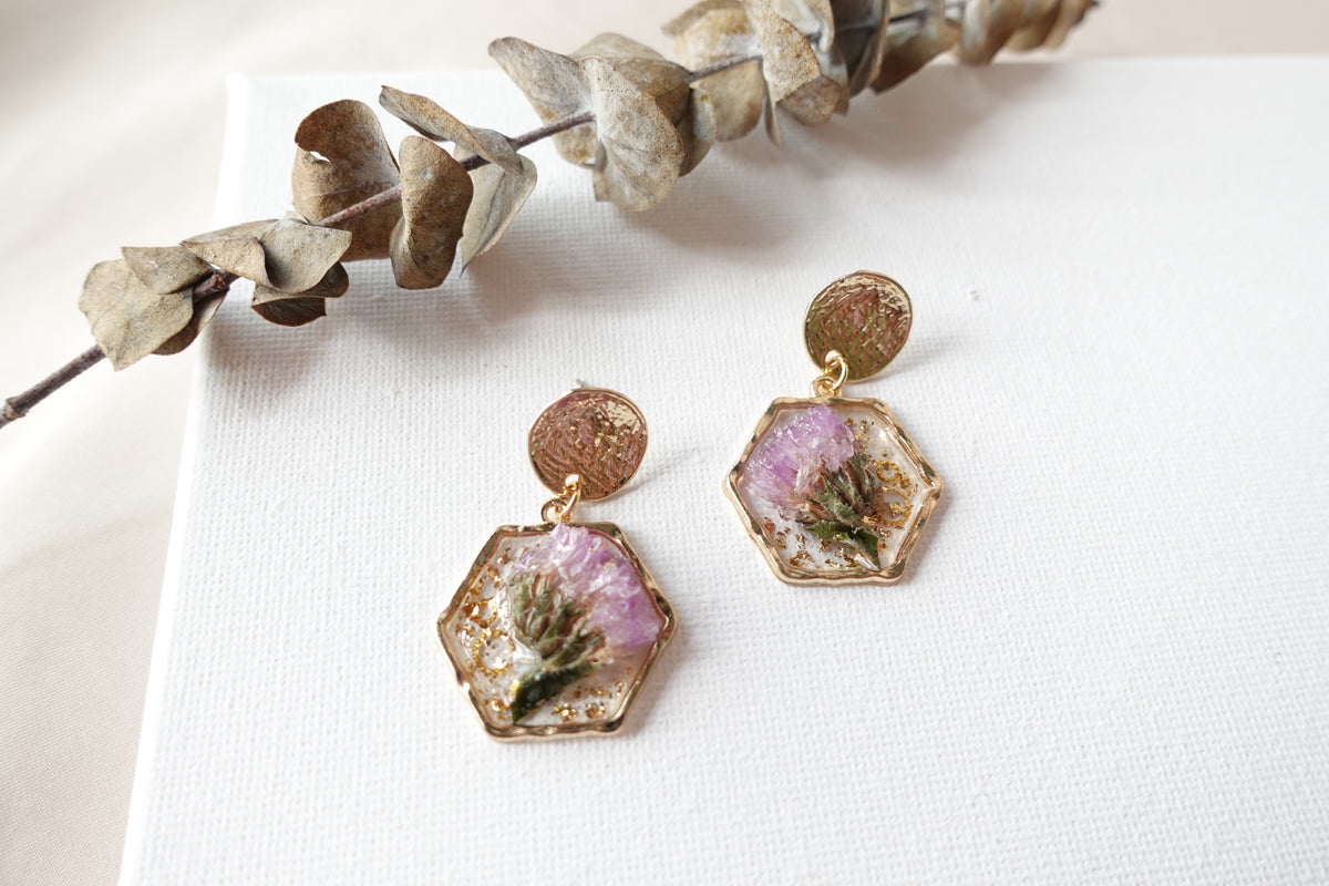 Purple Forget-Me-Not Flower Studs