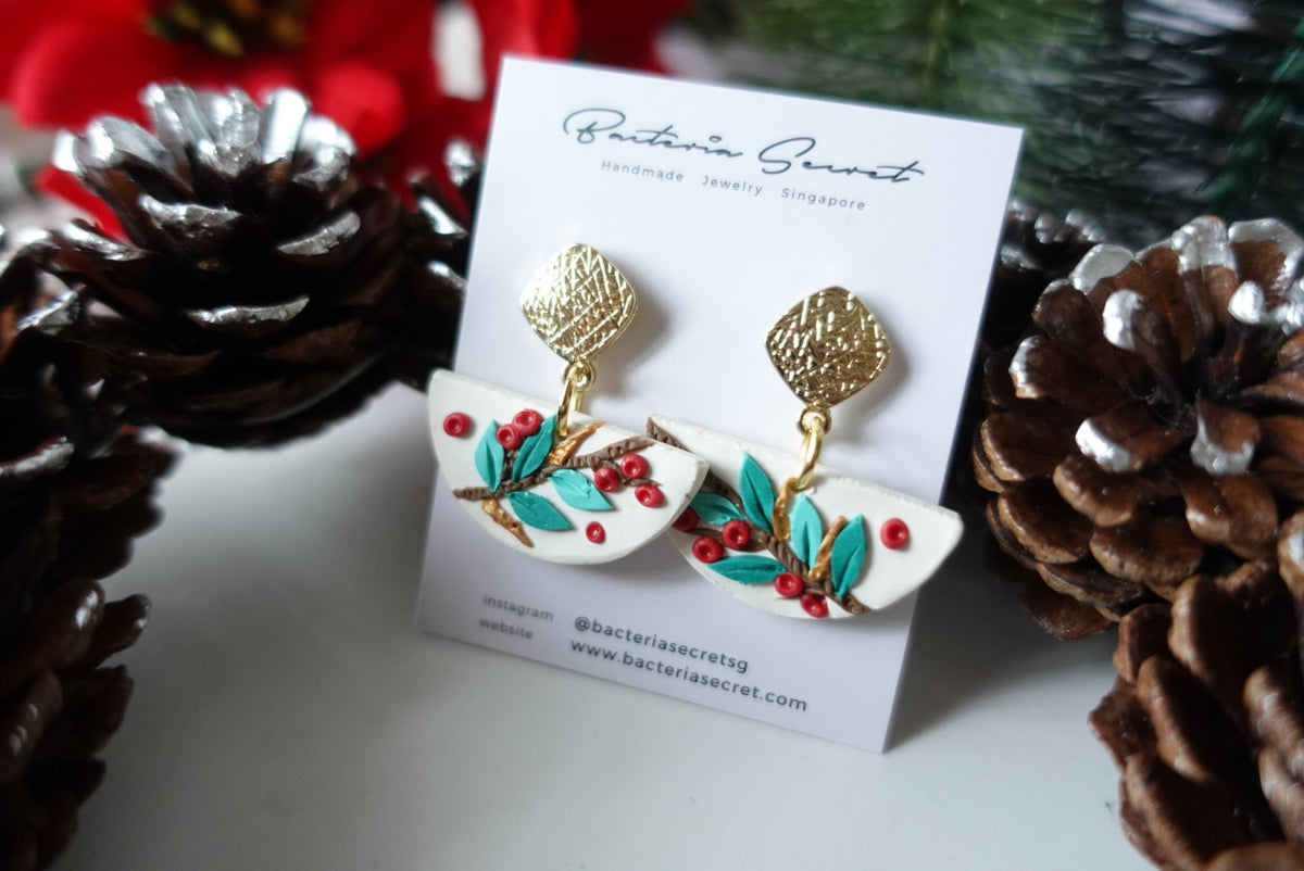 Merry Little Christmas Clay Earrings 1