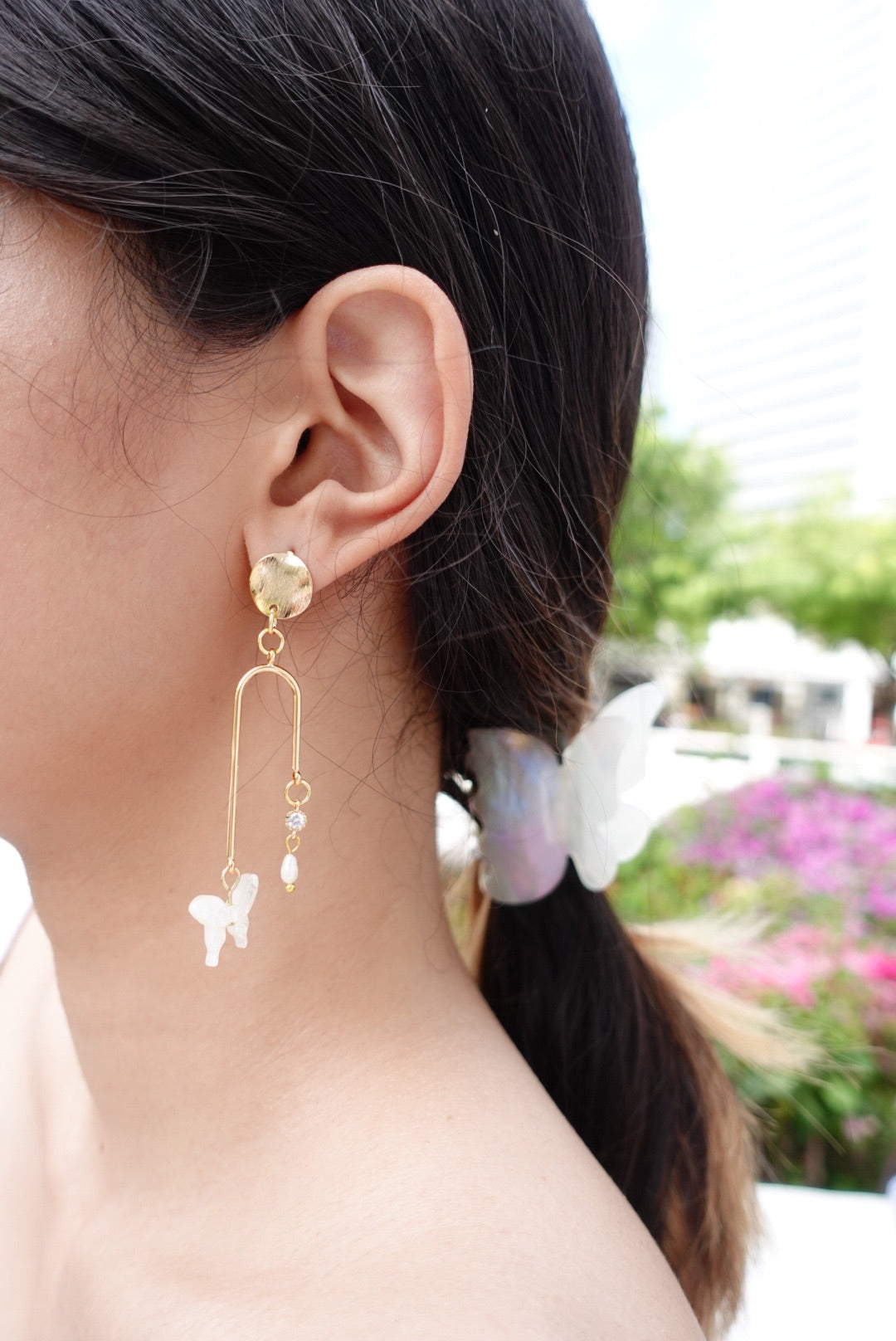 Bethesda Asymmetrical Butterfly Earrings