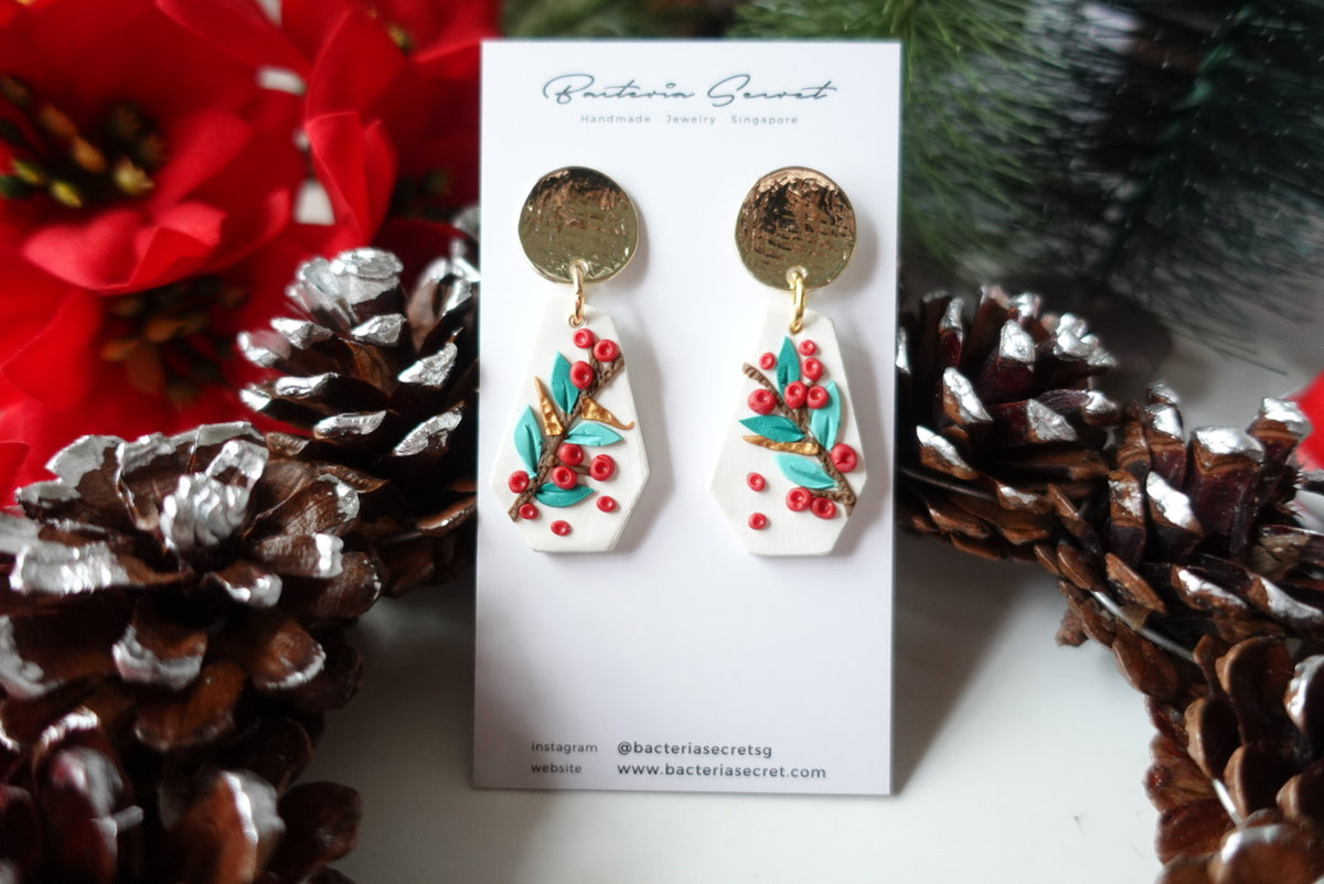 Merry Little Christmas Clay Earrings 6
