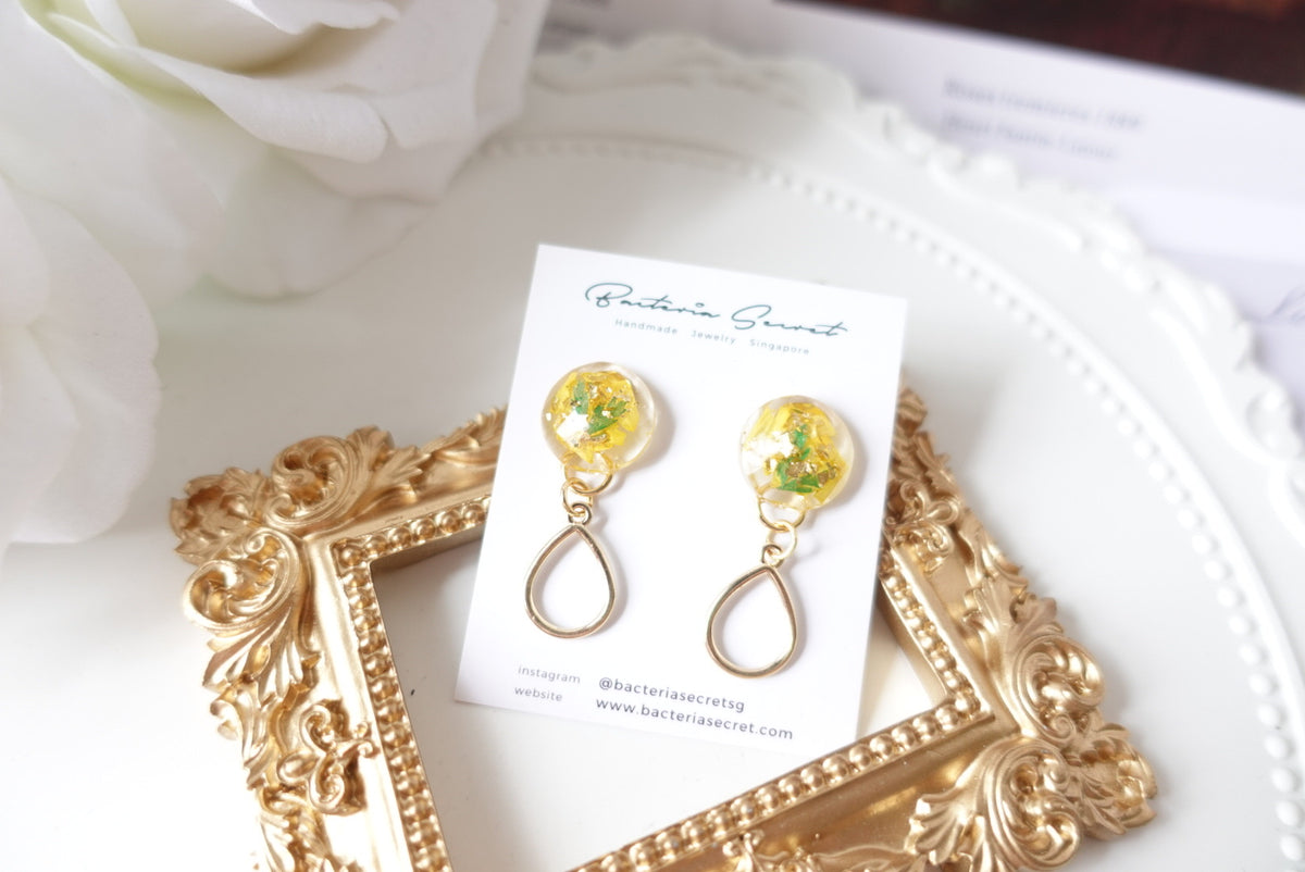 Beren Sunflower Teardrop Studs