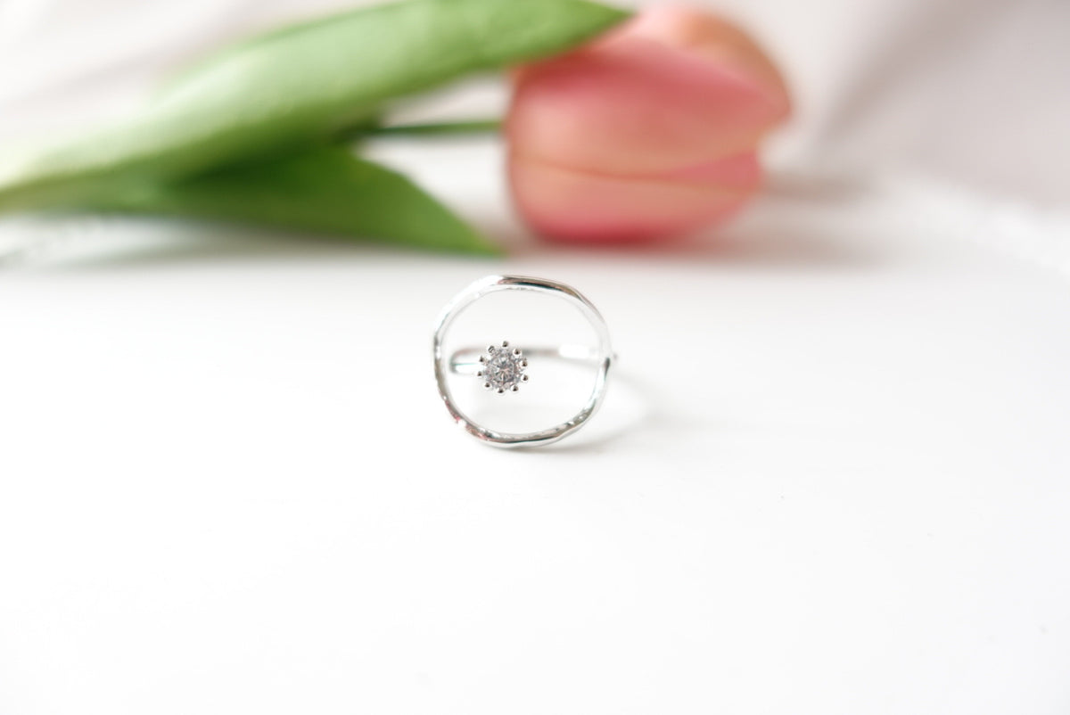 Astrella Round Crystal Ring