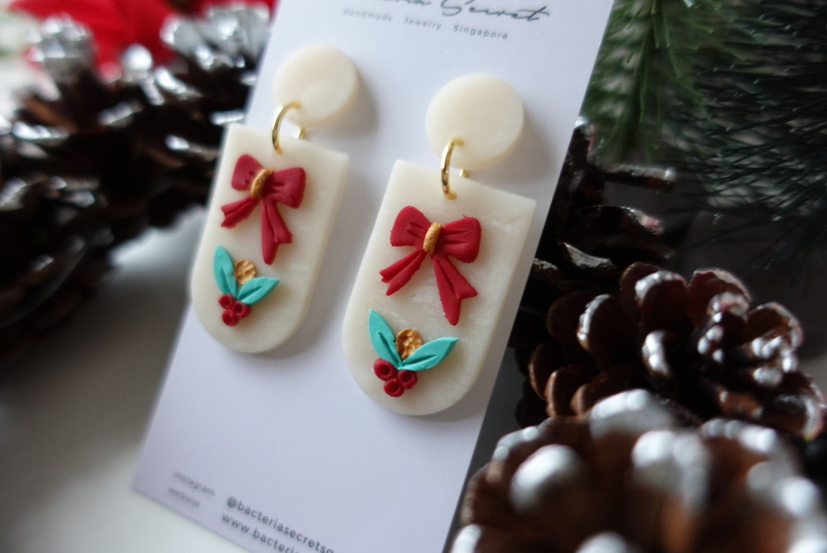 Christmas Polymer Clay Earrings 3.4
