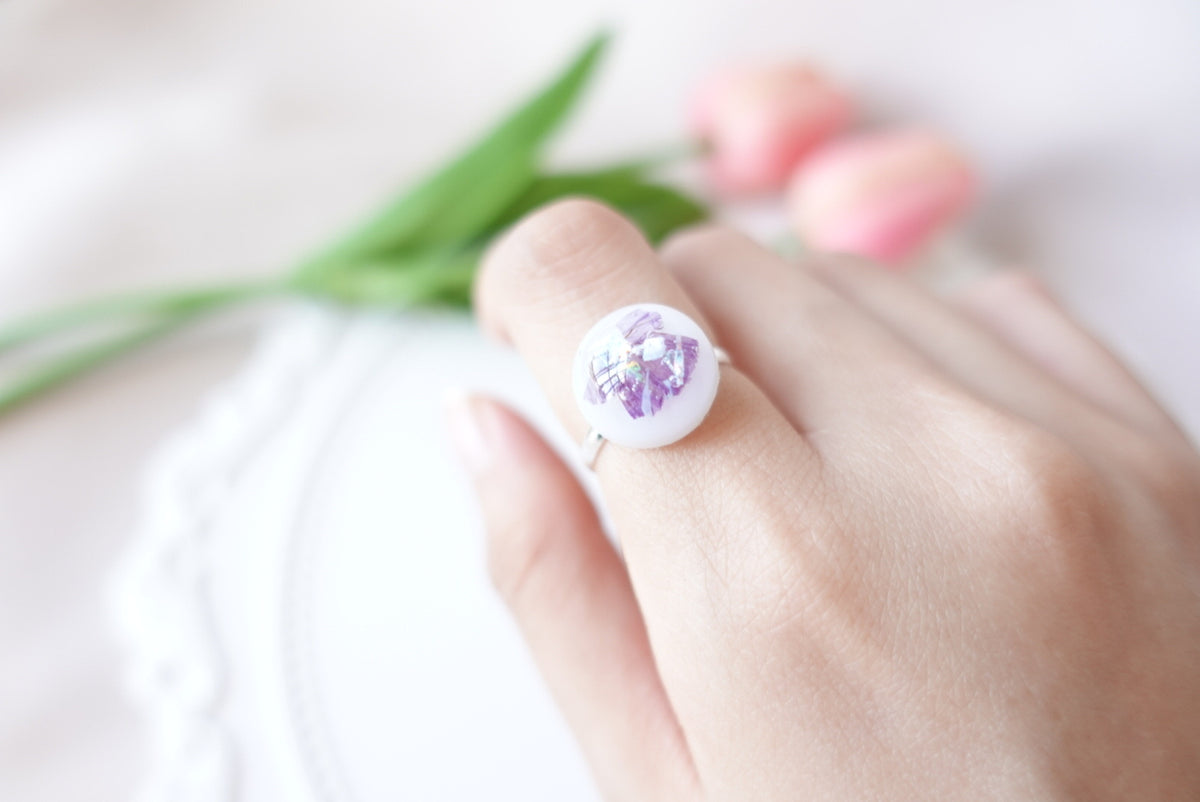 🌸Spring Collection🌸 Aquene Purple Flower Ring (Adjustable)