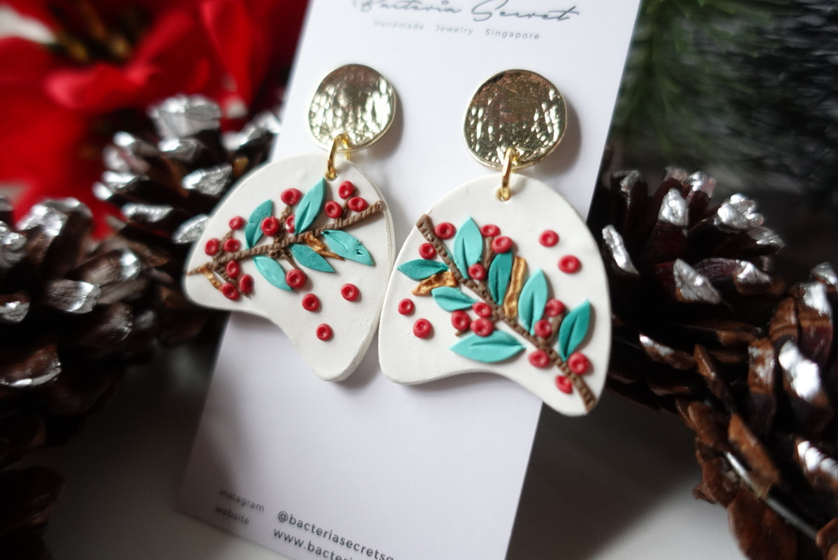 Merry Little Christmas Clay Earrings 7