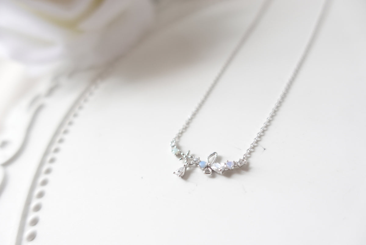 Batya Flower Crystal Short Necklace