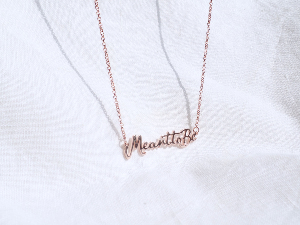 Meant to Be Rose Gold Necklace