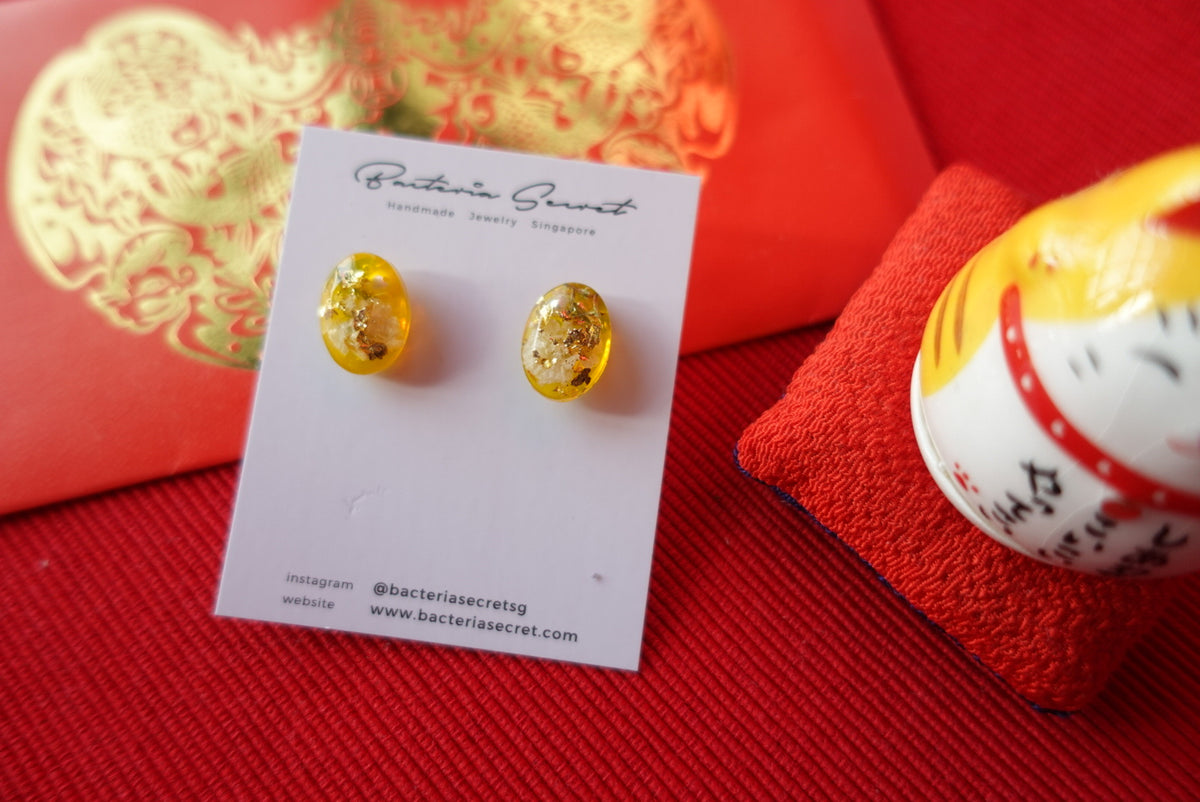 CNY Cadhla Yellow Flower Studs