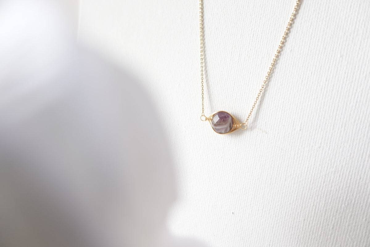 Bayleigh Amethyst Short Necklace