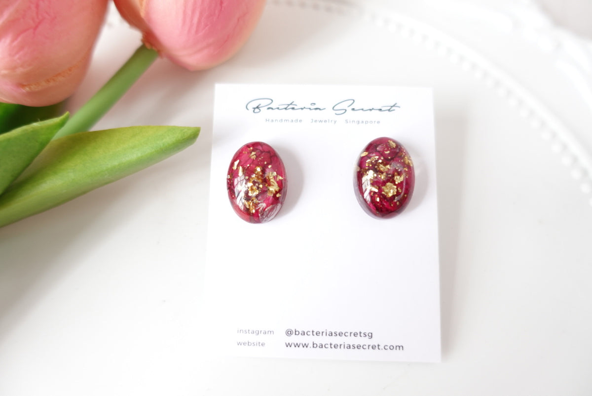 Ayda Rose Oval Studs
