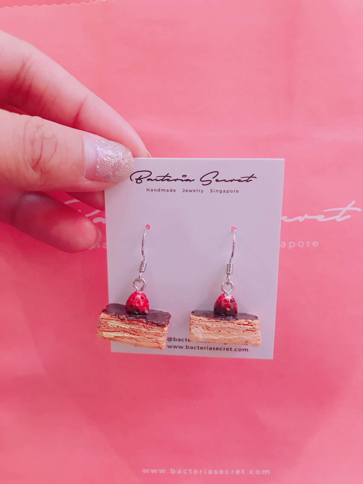 Chocolate Cake Earrings