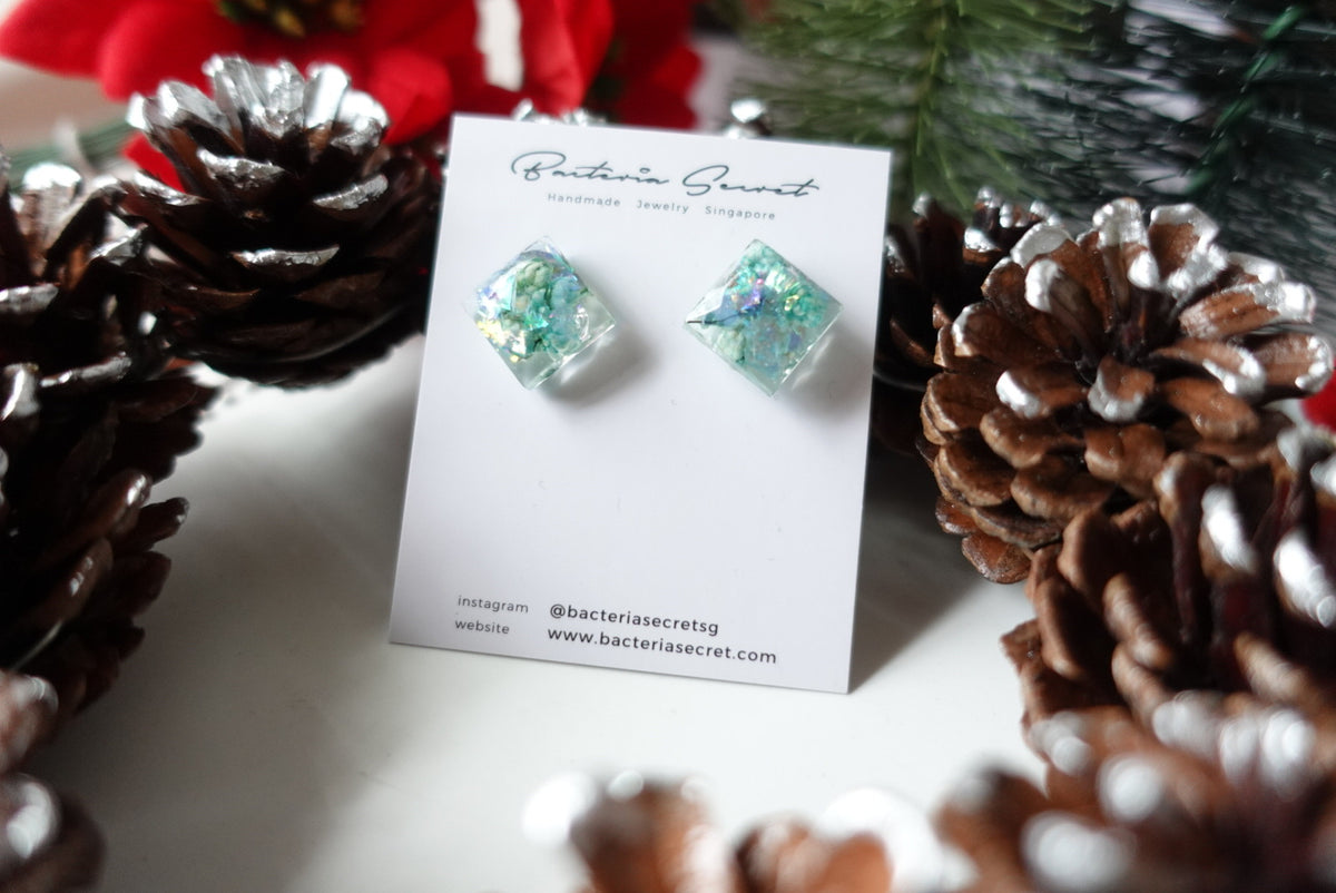 Blues Rice Flowers Christmas Studs