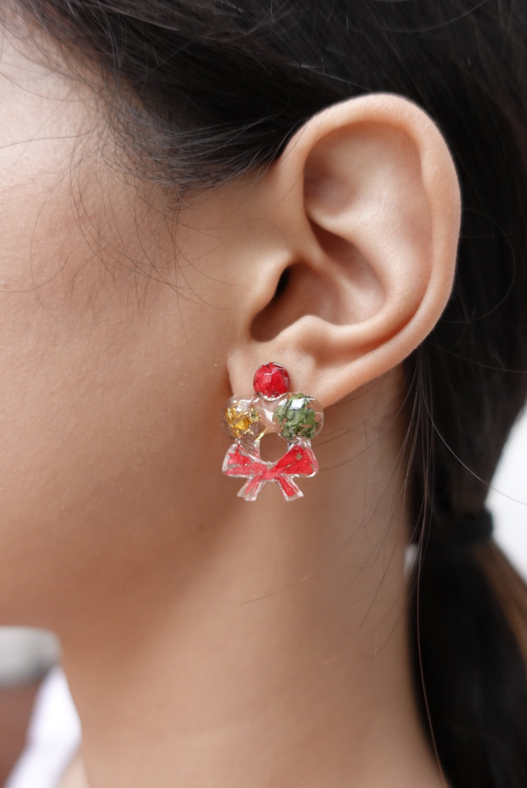 Cadee Floral Christmas Wreath Studs