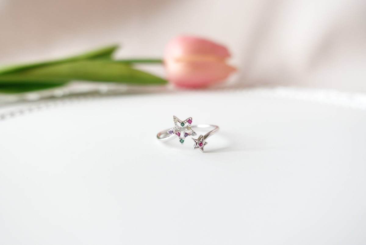 Annily Crystal Star Ring (adjustable)