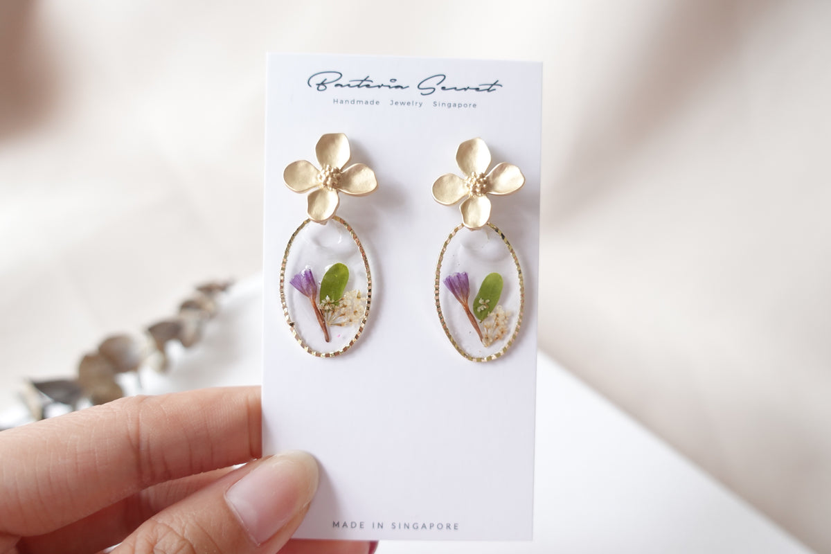 Forget-me-not Flower Combination Studs