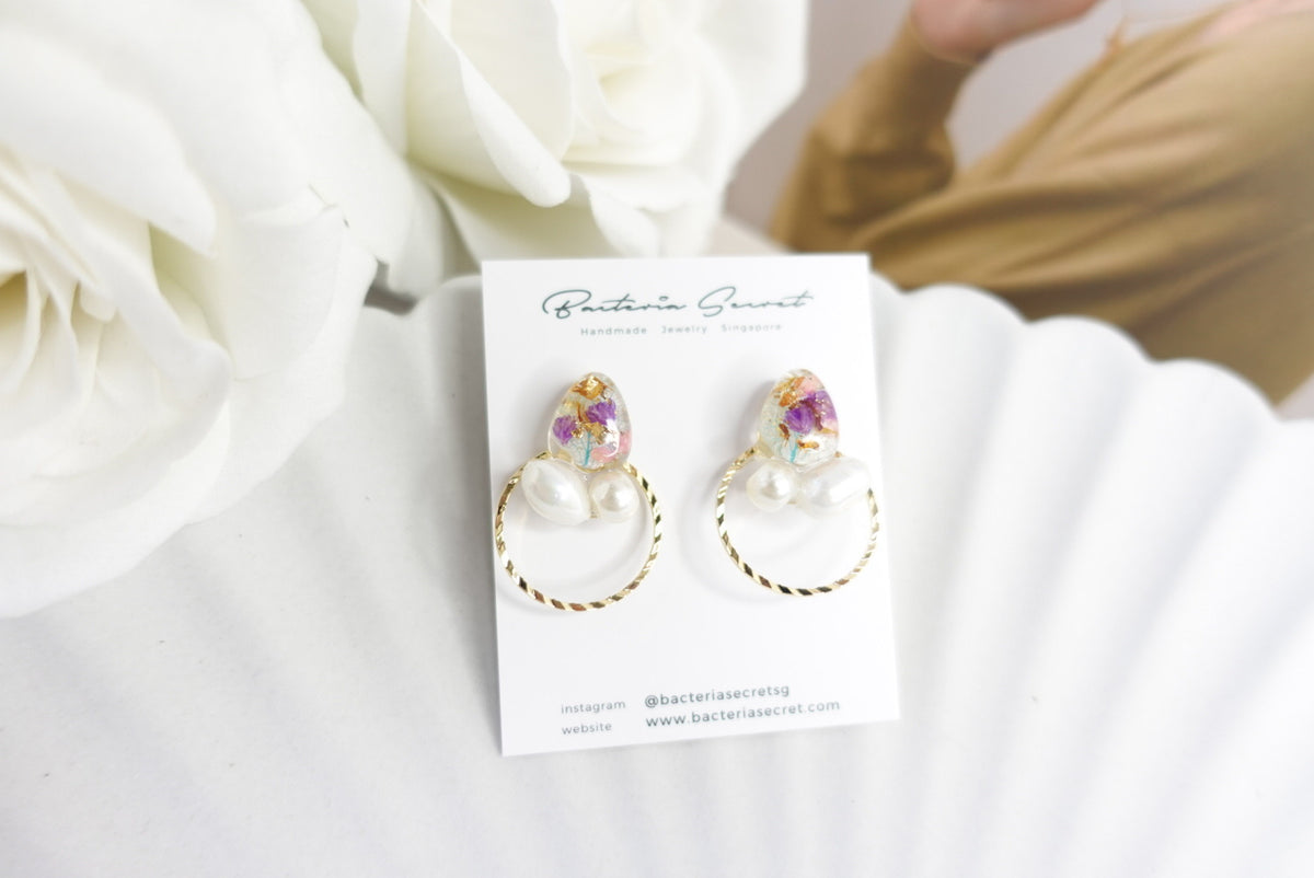 🌼Summer Collection🌼Aviana Mixed Flower Pearl Earrings