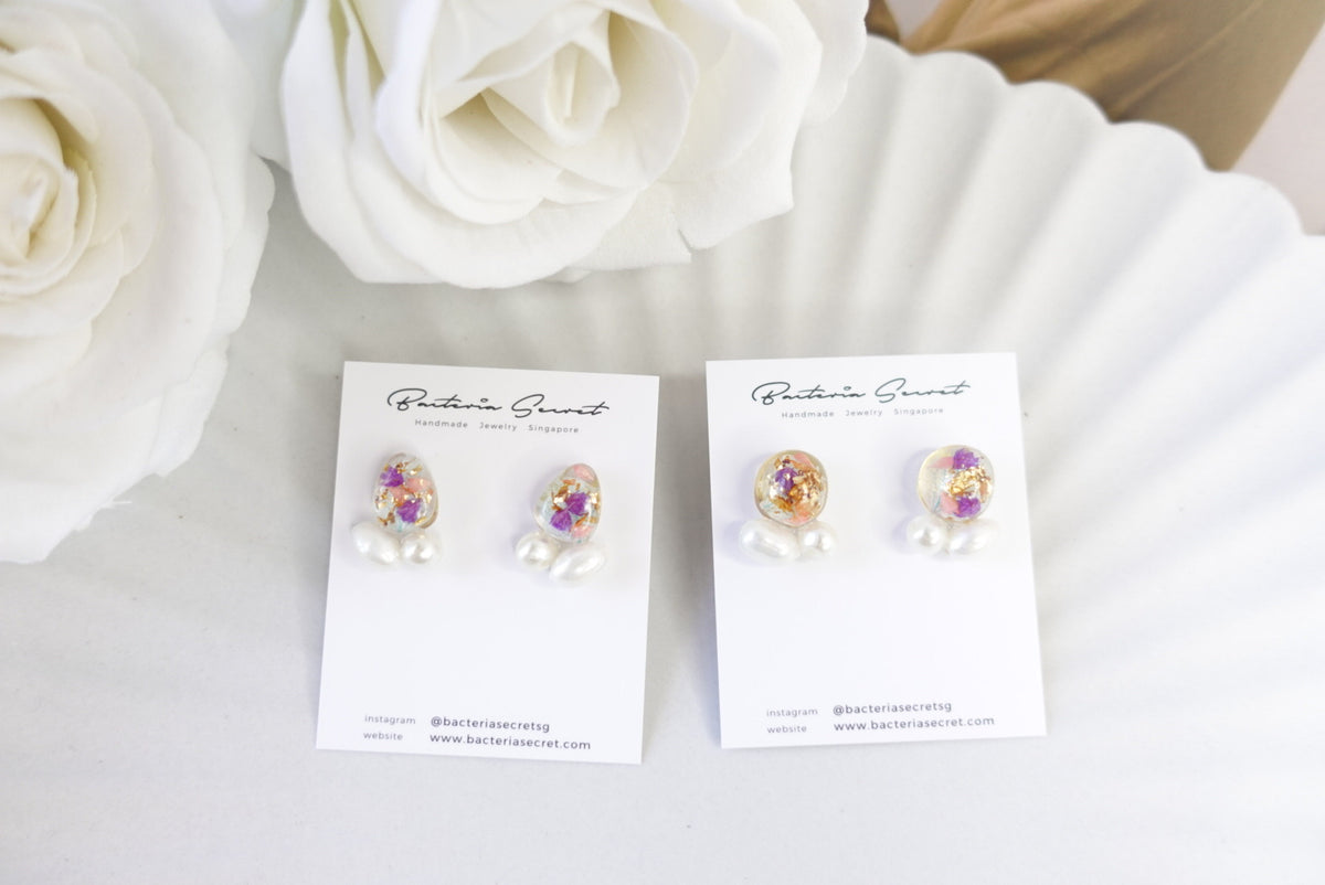 🌼Summer Collection🌼Ayane Mixed Flower Pearl Studs