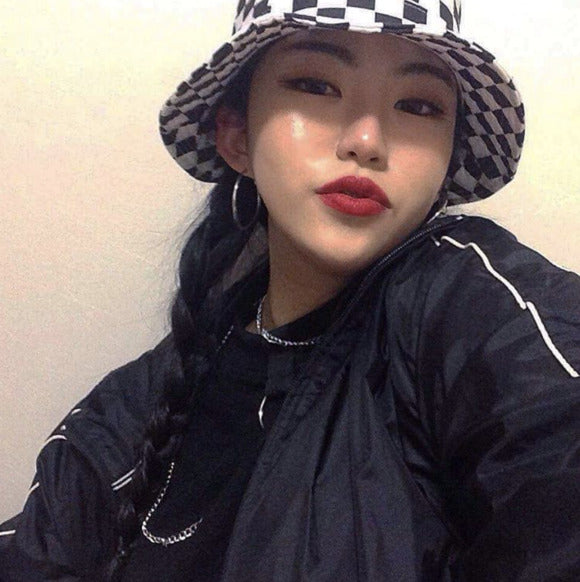 Checkerboard Bucket Hat