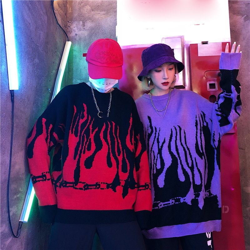 FLAMING Knit Sweater