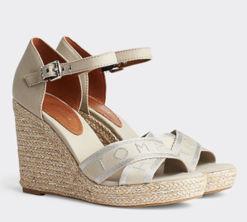 TOMMY HILFIGER | Metallic High Wedge Sandal - Shylee shop