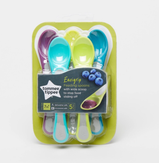 Babyshop l Tommee Tippee Feeding Spoon - Set of 5 - Shylee Online Shop