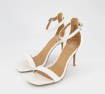 Material Girl- Blaire Two-Piece Dress Sandals, White - Shylee Online Shop