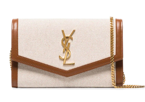 Farfetch | Saint laurent Uptown monogram-plaque shoulder bag - Shylee Online Shop