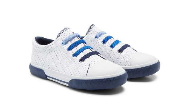 Mothercare | blue punchout trainers - Shylee shop