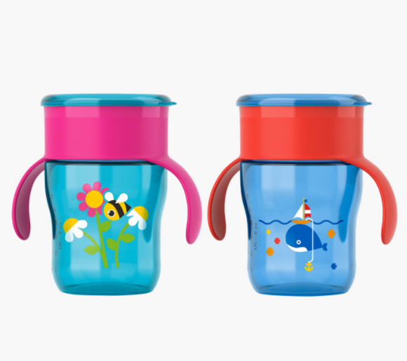Babyshop l Philips Avent Printed Grown Up Cup with Handles – 260 ml