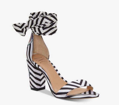 INC-Kanata Two-Piece Sandals, Black/White Stripe - Shylee Online Shop