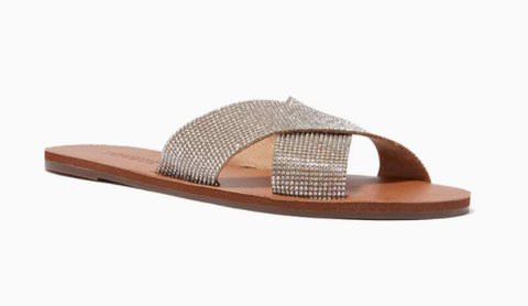 Ounass | schutz Crystalle Slide Sandals in Leather - Shylee Online Shop