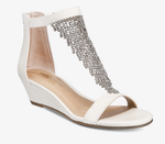 Thalia Sodi- Tacey Open Toe Formal Ankle Strap Sandals, White - Shylee Online Shop
