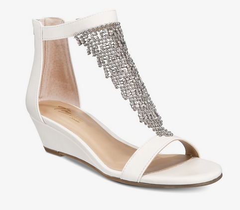 Thalia Sodi- Tacey Open Toe Formal Ankle Strap Sandals, White - Shylee shop