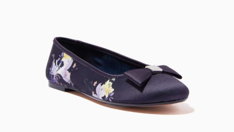 Ounass | Ted Baker Suallya Ballerina Shoes in Decadence-print Satin - Shylee Online Shop