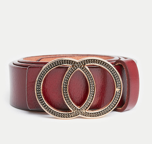 Double Round Buckle Belt - Shylee shop