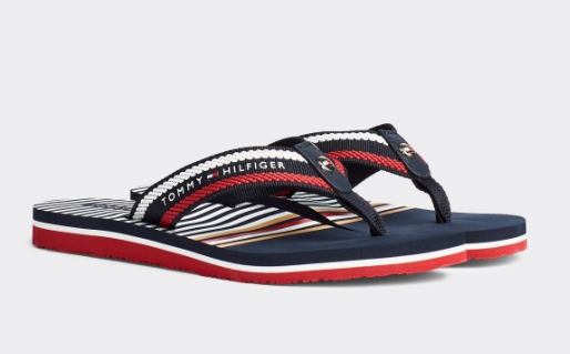 TOMMY HILFIGER | Signature Rope Embroidery Flip-Flops - Shylee shop