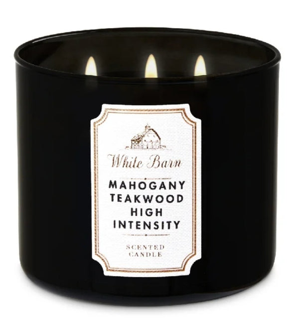 Mahogany Teakwood High Intensity3-Wick Candle - Shylee shop