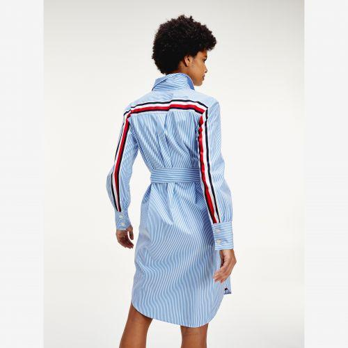 Cotton Stripe Shirt Dress - Shylee Online Shop