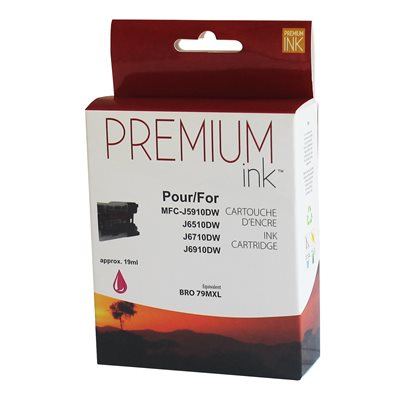 Brother LC79XL Compatible Magenta Premium Ink (19ml) - PrintInk Canada
