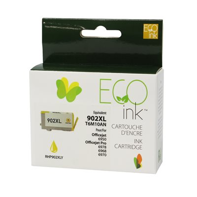 HP No.902XL T6M10AN Reman Yellow EcoInk - PrintInk Canada