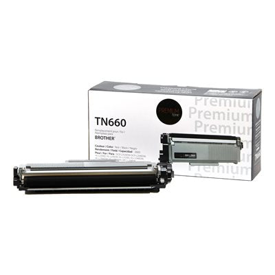 Brother TN660 - Compatible Premium Tone 2.6K - PrintInk Canada
