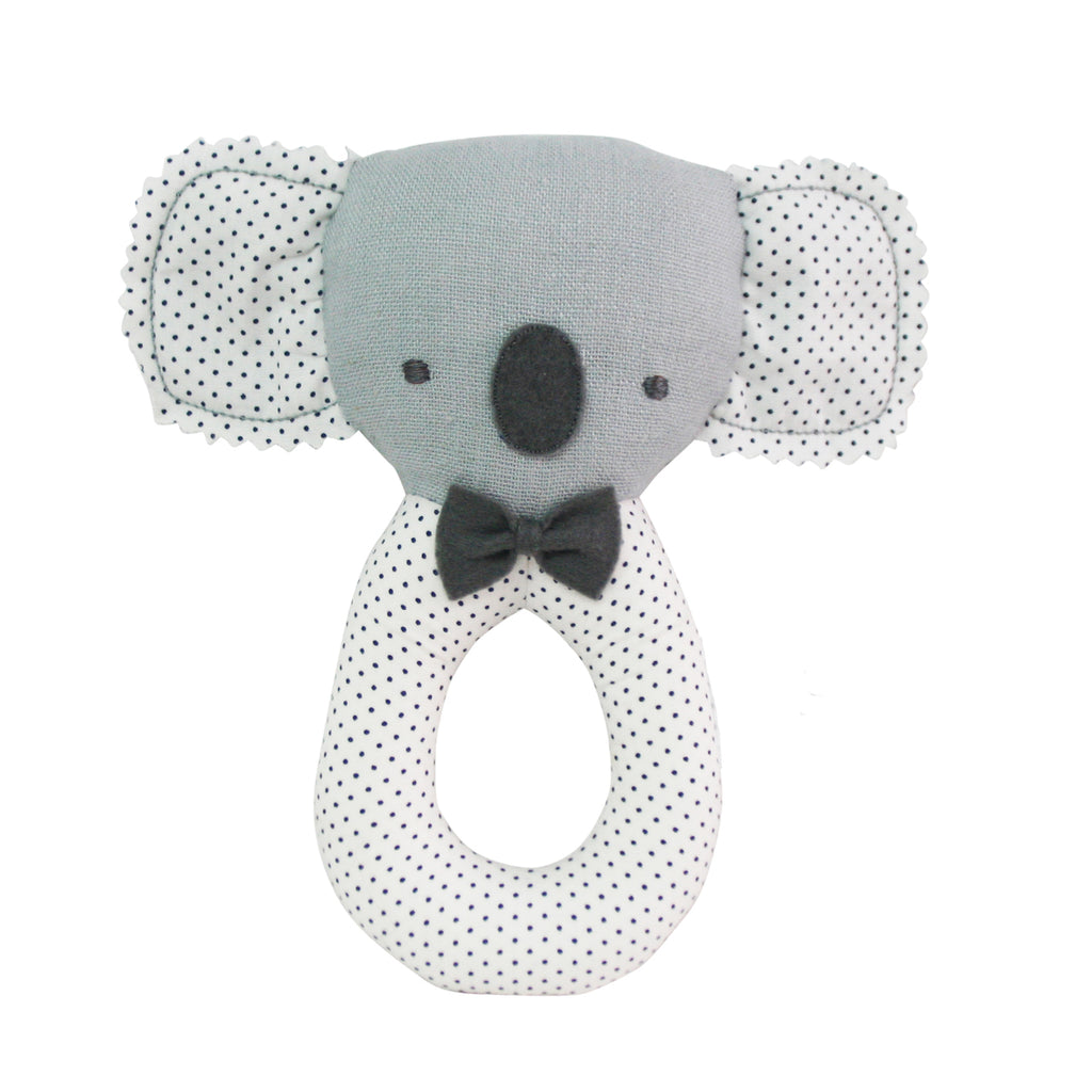 Baby Koala Grab Rattle Grey