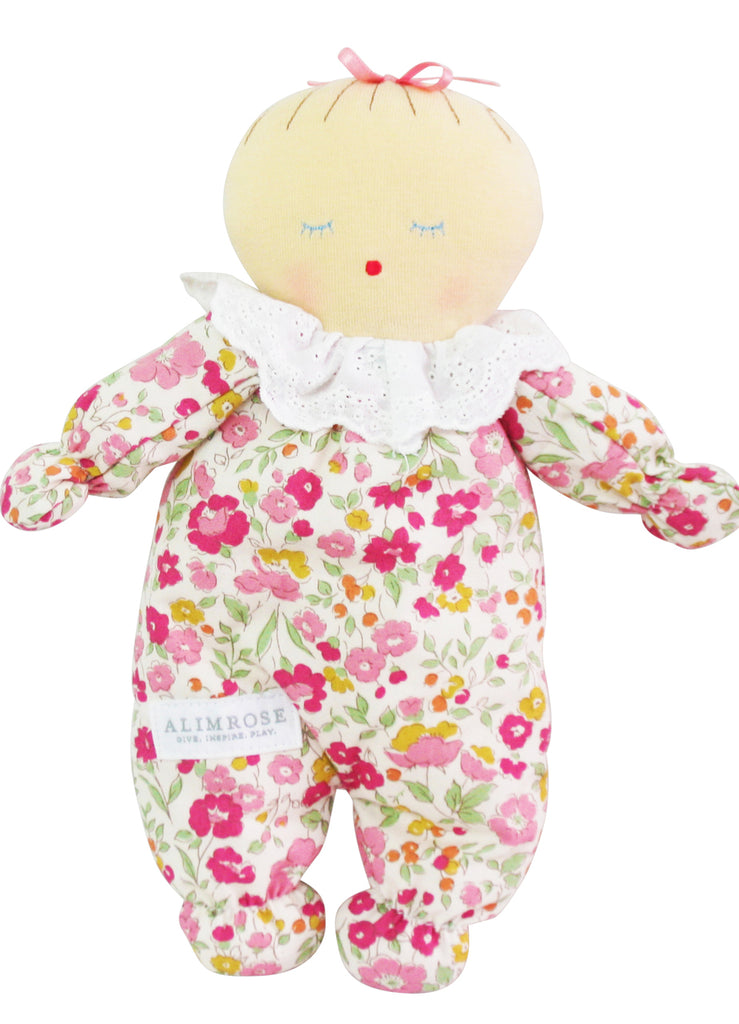 Asleep Awake Baby Doll 24cm Rose Garden