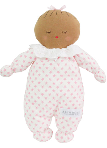 Asleep Awake Baby Doll 24cm Pink Stars